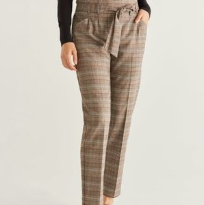 Straight Fit Belted Trousers A New Day